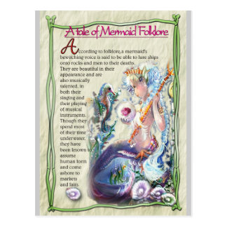 Mermaid fun-facts Postcard