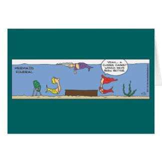 Mermaid Funeral Card