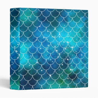 Mermaid Galaxy Pattern 3 Ring Binder