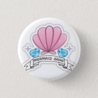 Mermaid Gang 1 Inch Round Button