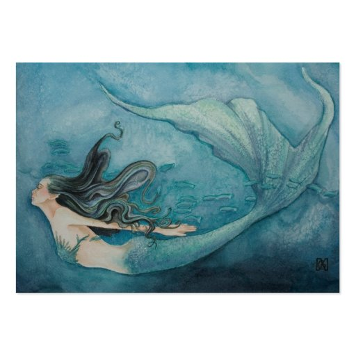 Mermaid Gift Tag Business Card Templates