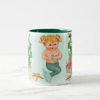 Mermaid Girl Two-Tone Coffee Mug