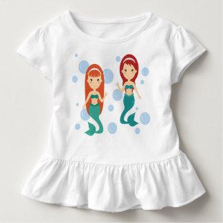 Mermaid girlfriends smiling happy in the sea toddler t-shirt