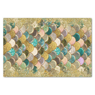 Mermaid Glam Ocean Sea Scales Glamour Glitter Chic Tissue Paper
