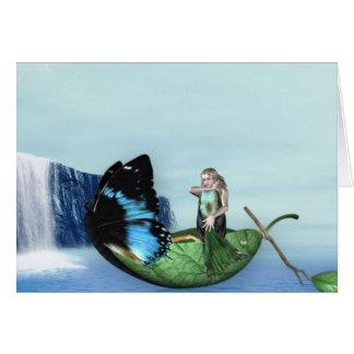 Mermaid Gondola Greeting Cards