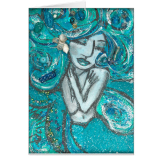 Mermaid Greeting Card (Customizable)