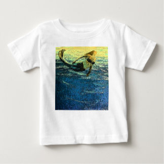 Mermaid Greeting the Dawn Baby T-Shirt
