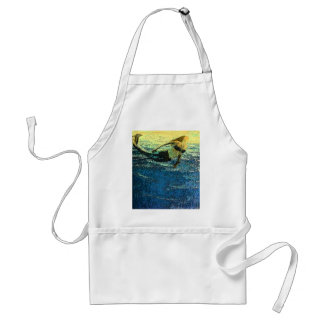 Mermaid Greeting the Dawn Standard Apron