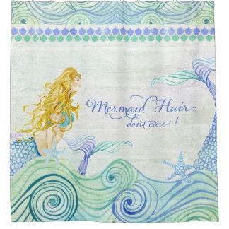 Mermaid Hair Don't Care! Watercolor Ocean Sea Wave