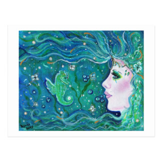 Mermaid Harmony postcard By Renee Lavoie