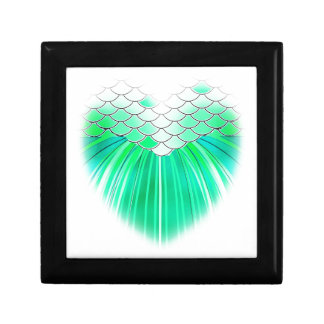 Mermaid heart with scale art gift box
