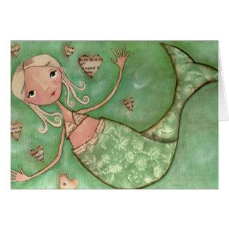 Mermaid Hugs - Greeting Card