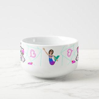 Mermaid Ice Cream Princess Soup Mug