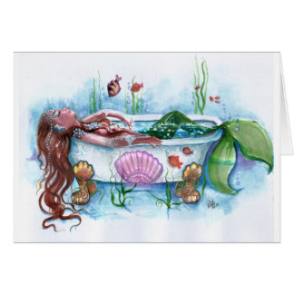 Mermaid in a Bathtub Card