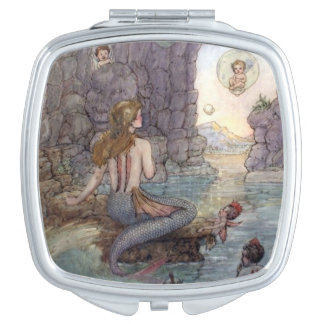 Mermaid in a Grotto, Mirror For Makeup