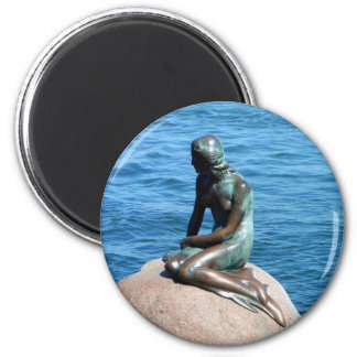 Mermaid in Denmark 2 Inch Round Magnet