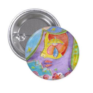 Mermaid in my kitchen 1 inch round button