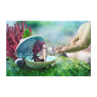Mermaid in Shell Canvas Print