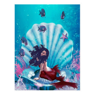 Mermaid in Shell Postcard