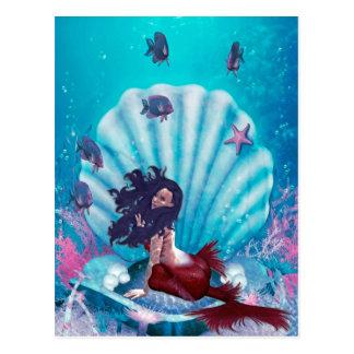 Mermaid in Shell Postcard