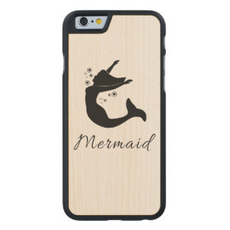 Mermaid in Silhouette Carved® Maple iPhone 6 Slim Case