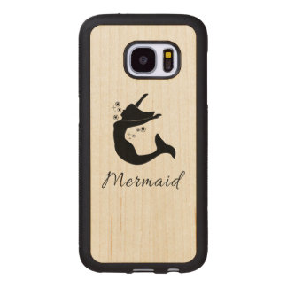 Mermaid in Silhouette Wood Samsung Galaxy S7 Case