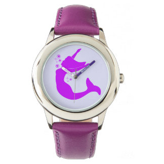 Mermaid in Silhouette Wristwatches
