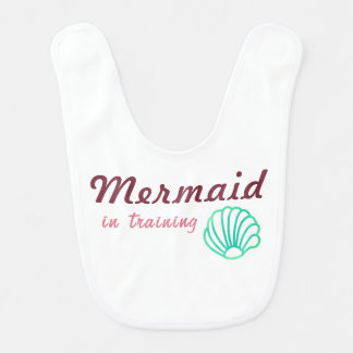 Mermaid in Training Baby Bib