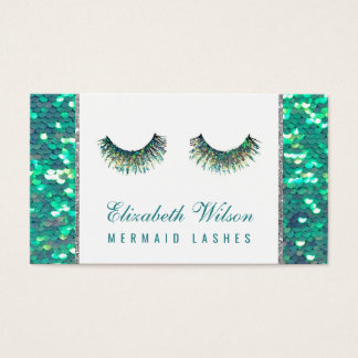 mermaid lashes makeup artist business card