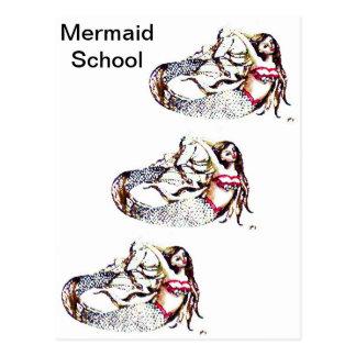 Mermaid Laurel - Mermaid School -  CricketDiane Postcard