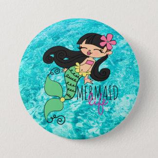 Mermaid Life BH 3 Inch Round Button