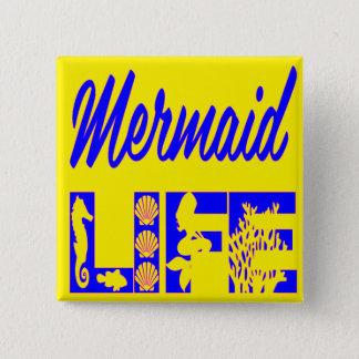 Mermaid Life FB.com/USAPatriotGraphics © 2 Inch Square Button
