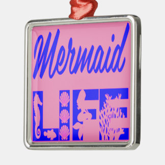 Mermaid Life FB.com/USAPatriotGraphics © Metal Ornament