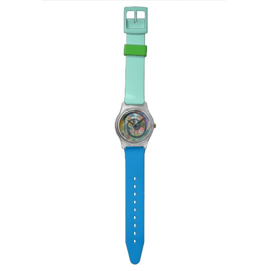 Mermaid Life Fun Colourful watch by Artzfolk