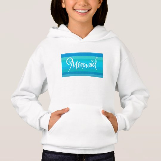 Mermaid little girls sweatshirt