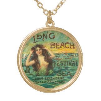 Mermaid Long Beach 1908 Vintage Art Jewelry Charm