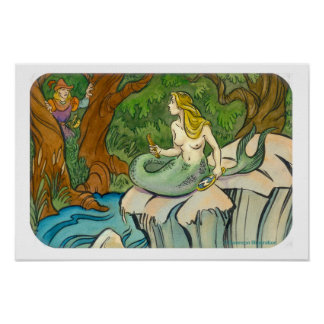 Mermaid Lorelei and Prince Enchanted Poster