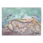 Mermaid Lullaby Mother and Baby Mermaids Thank You Card
