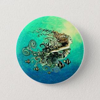 Mermaid Mermaids Fantasy Myth Button