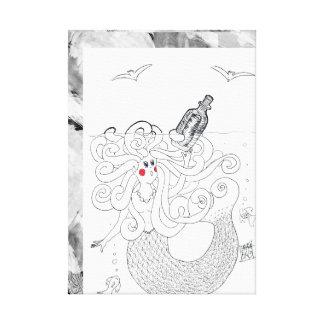 Mermaid Message Canvas Print