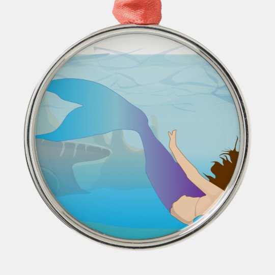 Mermaid Metal Ornament