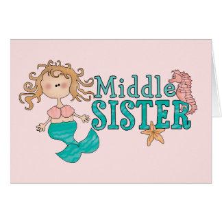 Mermaid Middle Sister Note Card