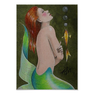 Mermaid Mini Poster