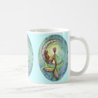 Mermaid Moon Coffee Mug by Molly Harrison