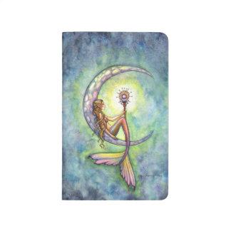 Mermaid Moon Fantasy Art by Molly Harrison Journal
