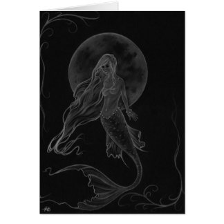 Mermaid Moon Mermaid Fantasy Art Card