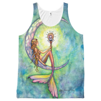Mermaid Moon Mermaid Fantasy Art Illustration All-Over-Print Tank Top