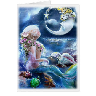 Mermaid & MoonCard Card