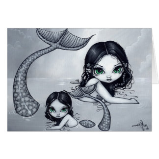 """Mermaid Mother and Child"" Greeting Card"