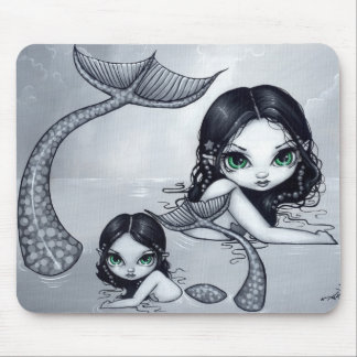 """Mermaid Mother and Child"" Mousepad"